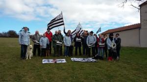 Avec les supporters bretons