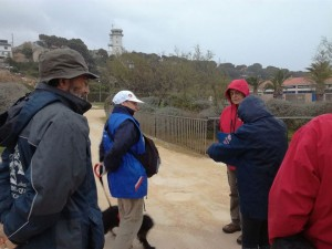 Martigues - Askell et Françoise au départ, juste avant la tempête.